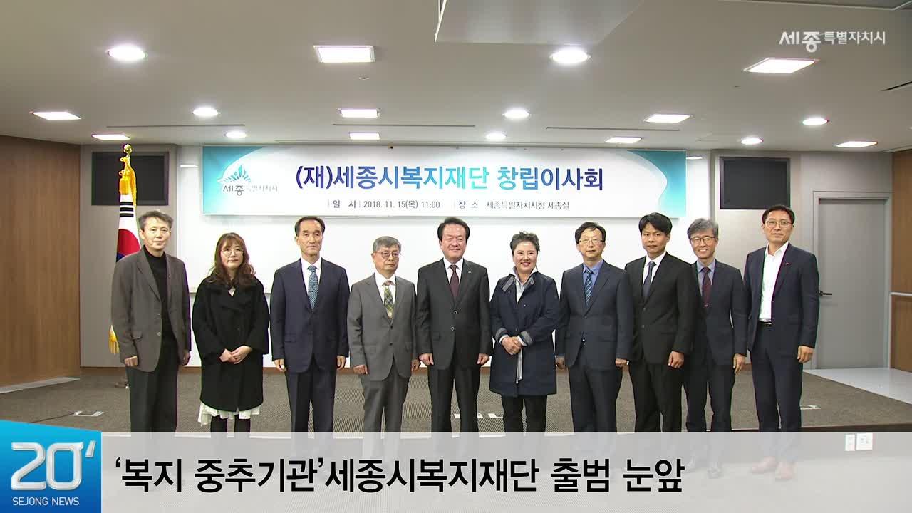 <공약 관련 영상> '복지 중추기관'세종시복지재단 출범 눈앞
