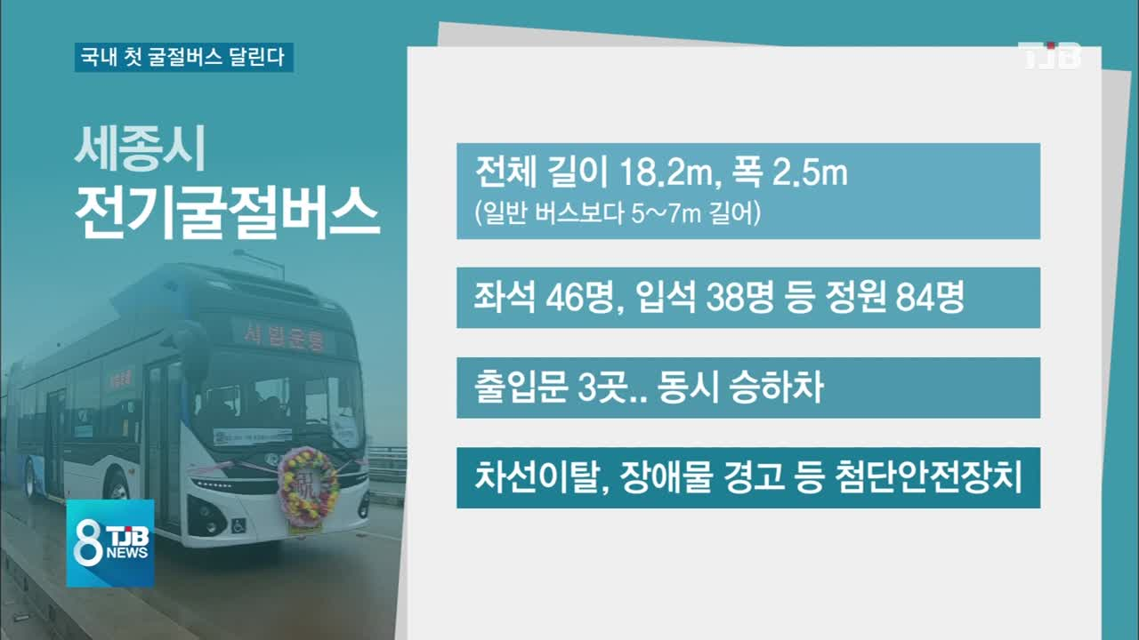 [TJB뉴스]국내 첫 굴절버스가 달린다