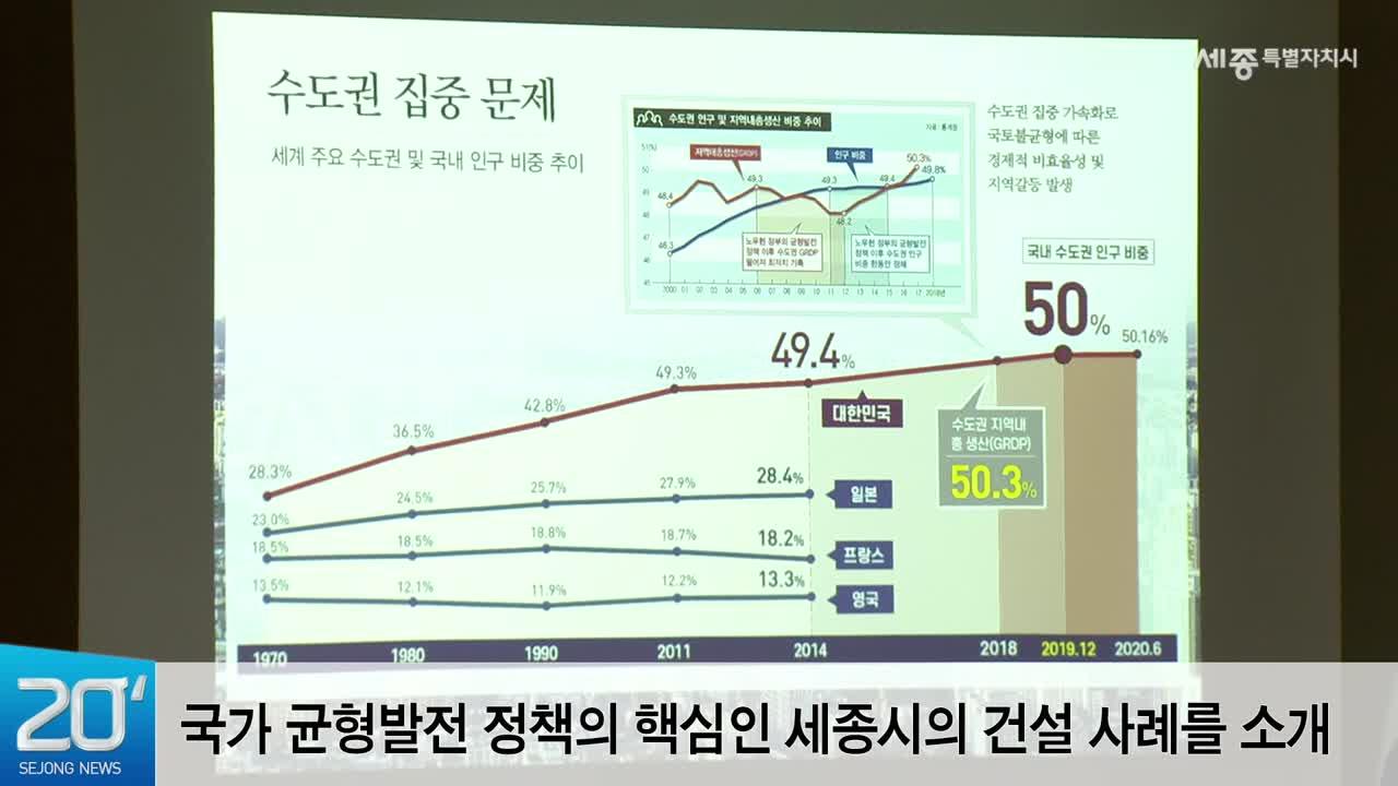 """<20초뉴스>  """"행정수도 세종-혁신도시 손잡고 균형발전 선도"""""""