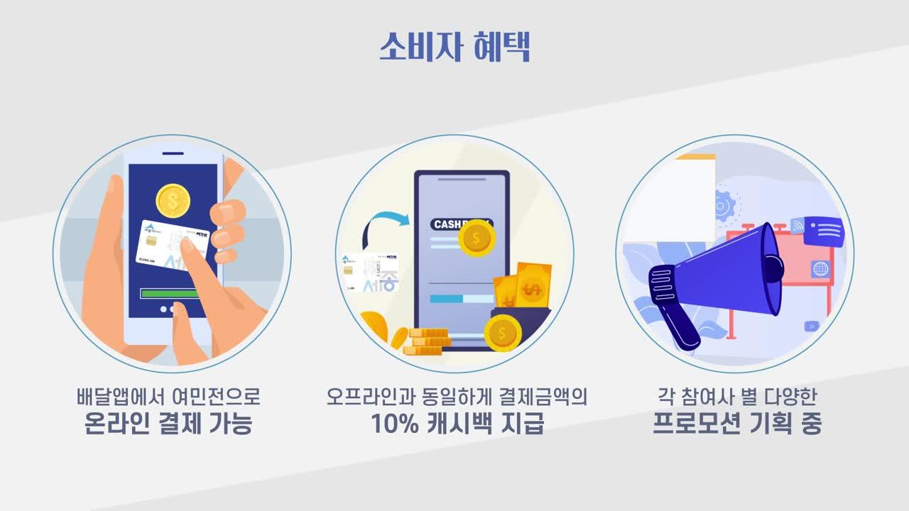 세종 민관협력 배달앱 홍보영상 이미지